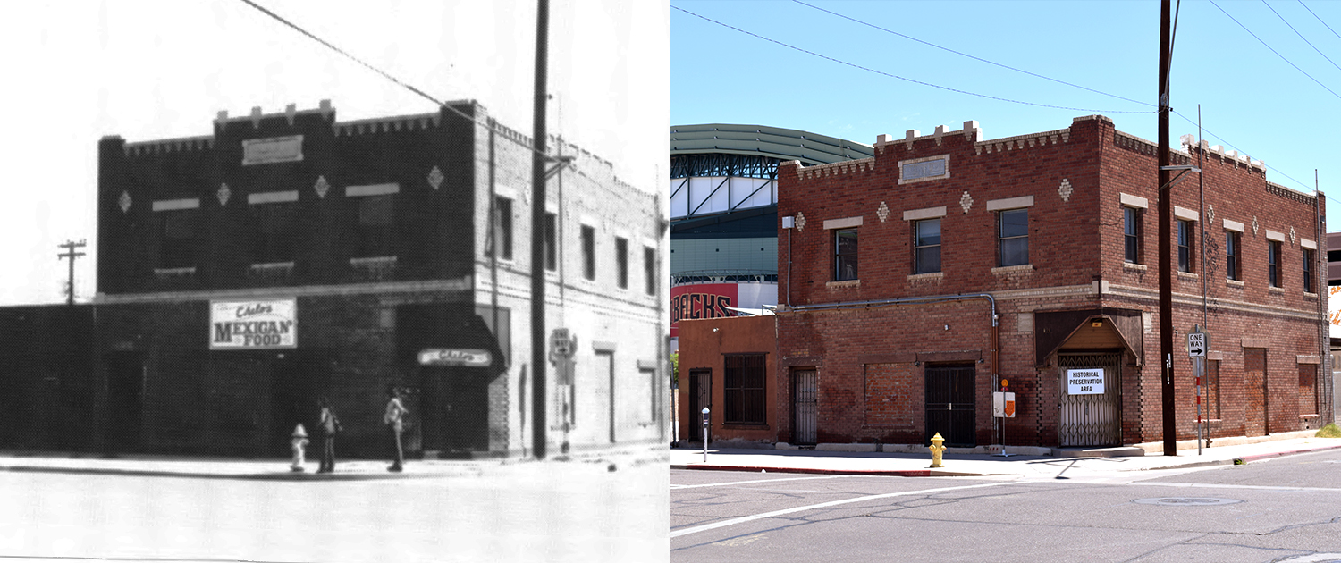 PHXWD The Gerardo's Building Then Now